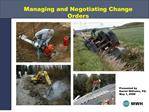 managing and negotiating change orders