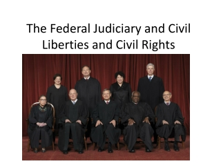 The Federal Judiciary and Civil Rights (Liberties)