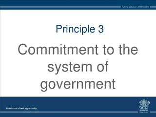 Commitment to the system of government