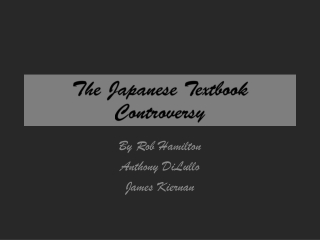 The Japanese Textbook Controversy