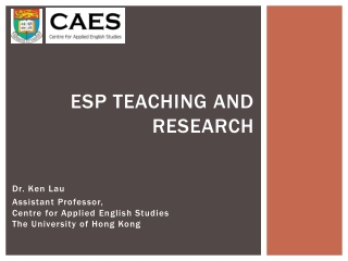 ESP Teaching and Research
