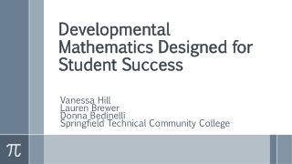 Developmental Mathematics Designed for Student Success
