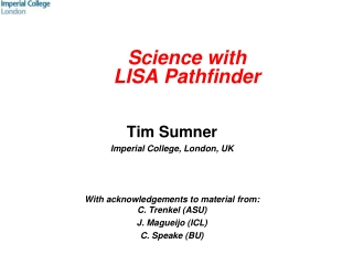 Science with  LISA  Pathfinder