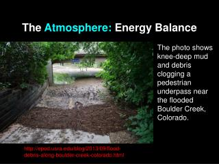 The  Atmosphere: Energy Balance