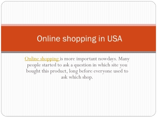 best online shopping usa