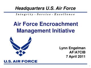 Air Forc e Encroachment Management Initiative
