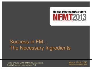 Success in FM… The Necessary Ingredients