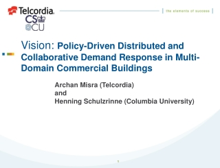Vision:  Policy-Driven Distributed and Collaborative Demand Response in Multi-Domain Commercial Buildings