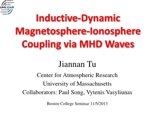 Inductive-Dynamic Magnetosphere-Ionosphere  Coupling via MHD Waves