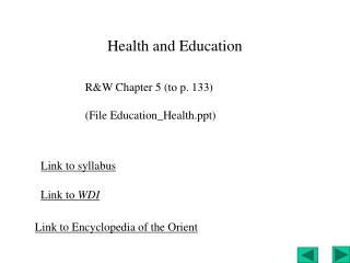 Health and Education