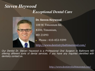 Dr.Steven Haywood - Dentist