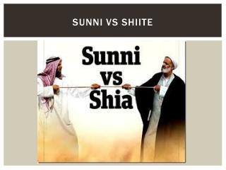 Sunni VS shiite