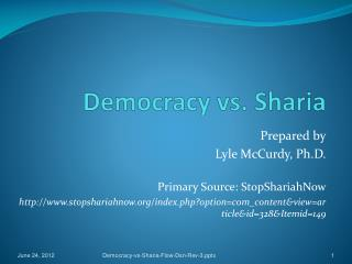 Democracy vs. Sharia