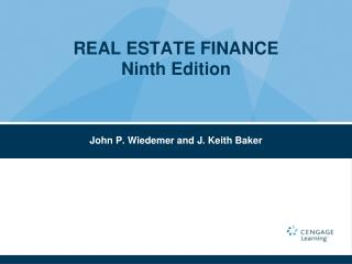 REAL ESTATE FINANCE  Ninth Edition
