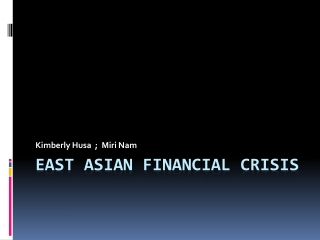East Asian financial crisis