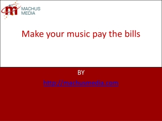 Make your music pay the bills