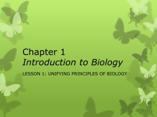 Chapter 1 Introduction to Biology