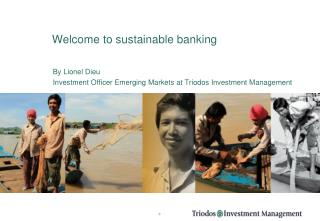 Welcome to sustainable banking