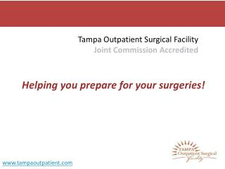 Prepare for your Surgery