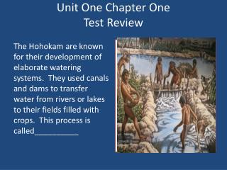 Unit One Chapter One  Test Review