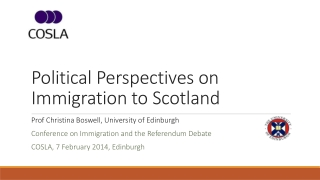Political Perspectives on Immigration to Scotland