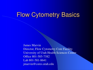 Flow  Cytometry  Basics
