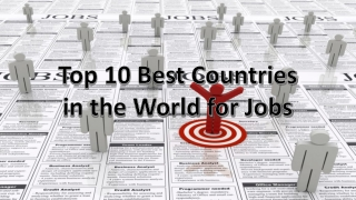 Top 10 Best Countries in the World for Jobs