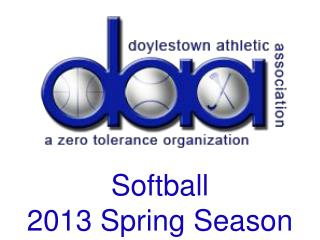 Softball 2013 Spring Season