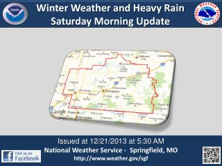 Winter Weather and Heavy Rain Saturday Morning Update