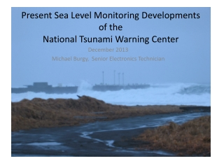 Present Sea Level Monitoring Developments of the National Tsunami Warning Center