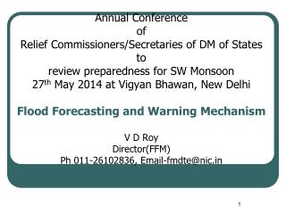 Flood Forecasting Activities of CWC