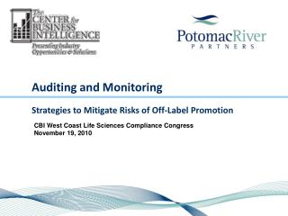 Auditing and Monitoring  Strategies to Mitigate Risks of Off-Label Promotion