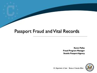 Passport Fraud and Vital Records
