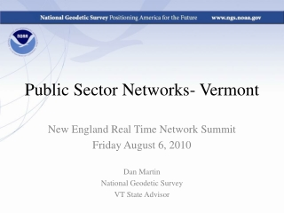 Public Sector Networks- Vermont