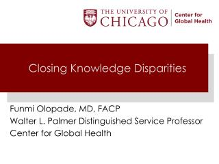 Closing Knowledge Disparities
