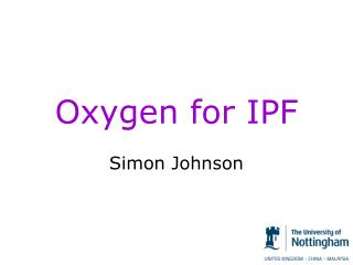 Oxygen  for  IPF
