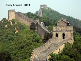Study Abroad 2013
