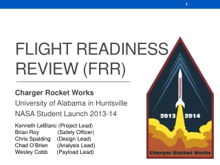 Flight Readiness Review (FRR)