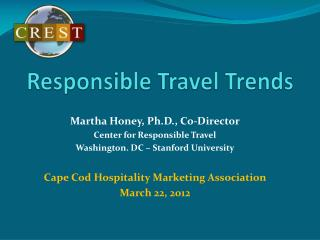 Respon sible Travel Trends