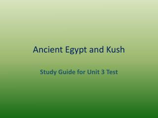 Ancient Egypt and Kush