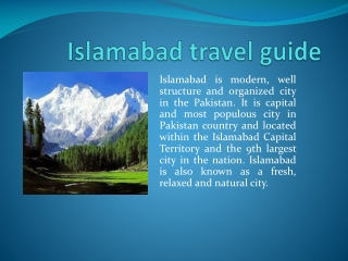 Islamabad Travel Guide