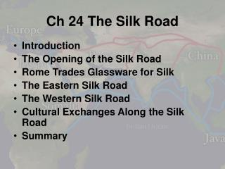 Ch 24 The Silk Road
