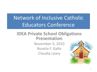 Network of Inclusive Catholic Educators Conference
