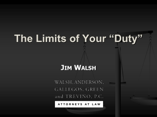 "The Limits of Your ""Duty"""