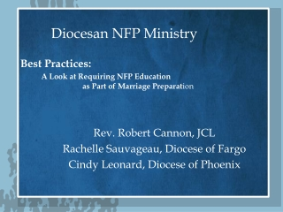 Diocesan NFP Ministry