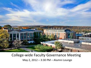 College-wide Faculty Governance Meeting