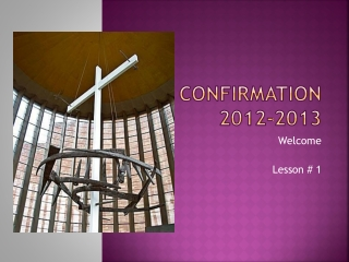 Confirmation 2012-2013