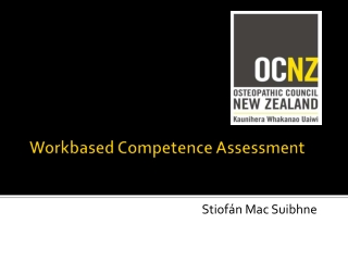 Workbased  Competence Assessment