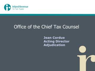 Office of the Chief Tax Counsel