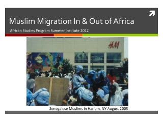 Muslim Migration In & Out of Africa